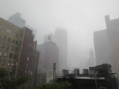 2019 Rainy Sunday Afternoon Hells Kitchen Clinton 8160 (Brechtbug) Tags: 2019 rainy sunday afternoon hells kitchen clinton near times square broadway nyc 08182019 new york city midtown manhattan rain shower summer august storms showers downpour deluge wet drops drop dropping down weather building fog like foggy hell s nemo southern view soaker soak soaking
