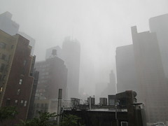 2019 Rainy Sunday Afternoon Hells Kitchen Clinton 8159 (Brechtbug) Tags: 2019 rainy sunday afternoon hells kitchen clinton near times square broadway nyc 08182019 new york city midtown manhattan rain shower summer august storms showers downpour deluge wet drops drop dropping down weather building fog like foggy hell s nemo southern view soaker soak soaking