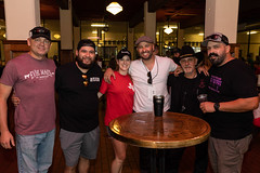 Guests and pitmasters at the Throwdown (houstonfoodie) Tags: bbq barbecue houston saintarnoldbrewing