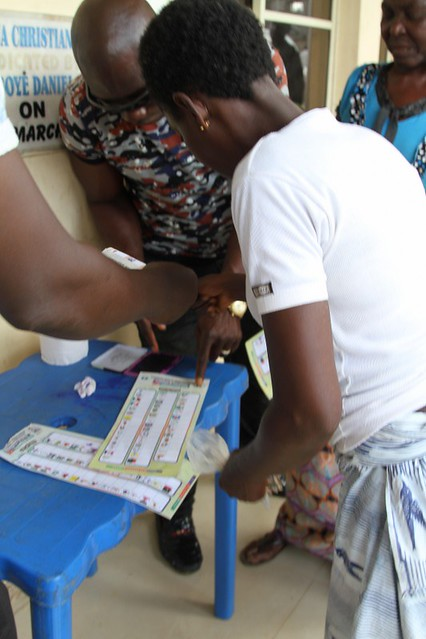 HSDickson -  Hon. Seriake Dickson casting his vote during the Bayelsa State LG Council election at his polling unit Toru-Orua, Salga Bayelsa State 10th August 2019