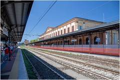 Lucca Train Station (EoinGardiner) Tags: lucca italy tuscany trains train station platform lines vanishing point vanishingpoint treni trenitalia jazz pop rock pisa montecatini tracks