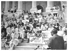 Freeway foes rally on Capitol Hill: 1970 (Washington Area Spark) Tags: anti freeway highway metro construction funds julius hobson protest demonstration rally us capitol washington dc district columbia 1970
