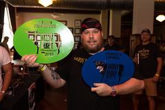 Judge's and People's Choice winner Chef/Pitmaster Randy Duncan of Daddy Duncan's BBQ (houstonfoodie) Tags: bbq barbecue houston saintarnoldbrewing
