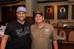 Brett Boren of Brett's Backyard BBQ and John Brotherton of Brotherton's Black Iron Barbecue (houstonfoodie) Tags: bbq barbecue houston saintarnoldbrewing