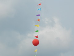 DSCN8129 (mestes76) Tags: 081918 duluth minnesota duluthchildrensmuseum bubblefestival balloons flags banners