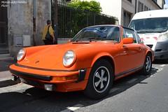 Porsche 911 S Targa 930 (Monde-Auto Passion Photos) Tags: voiture vehicule auto automobile porsche 911 911s targa coupé orange ancienne classique collection légende sportive france fontainebleau
