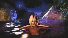 Nightswimming (Jaina(YeannaS)) Tags: secondlife night swimming water river quiet hank you very much