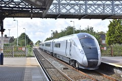 Trans Pennine Express`s 802203 on Hull Trains 5Z82 Peterborough to Hull driver training run passing Spalding 19.08.19 (phil60007) Tags: tpe railway