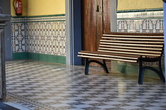 bench and lovely tiles (Hayashina) Tags: tenerife lalaguna spain bench tile pattern hbm sundaylights