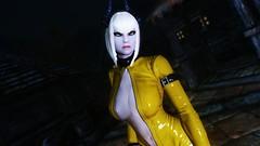Edina Ferwind (XMymy007X) Tags: skyrim enb tesv lady latex yellow