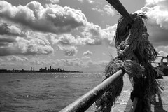 New Brighton Promenade with Liverpool in the distance (nickcoates74) Tags: liverpool blackandwhite bw merseyside sony a6300 ilce6300 affinityphoto newbrighton promenade wallasey mersey river