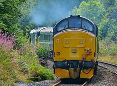 Top & Tail Heaven (whosoever2) Tags: uk united kingdom gb great britain wales nikon d7100 train railway railroad august 2019 drs class37 37025 3z12 37421 clag exhaust rhymney cardiff