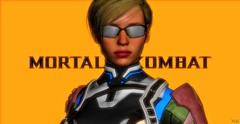 Cassie ( MK 11 ) ( Default ) (brianwasley) Tags: 1girl 3d render 3dbabes pinup posing solo solofemale blondehair blonde female human mortalkombat background nonenude cassiecage videogames games