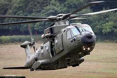 ZK001 / AF - AgustaWestland Merlin HC3A - Nos 28(AC)/78 Squadrons, RAF (KarlADrage) Tags: zk001 af agustawestlandmerlinhc3a aw101 eh101 merlinhc3a 78sqn 28acsqn raf royalairforce jhc jointhelicoptercommand dawlishairshow helicopter