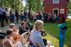 WOW-walls of women åpner Betzys naustvegg i Folkeparken Friluftsmuseum i Tromsø.