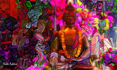 Yoga (brillianthues) Tags: buddah flowers abstract colorful collage glow photography photmanuplation photoshop