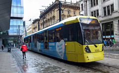 UK - Manchester tram (onewayticket) Tags: tram transport urban metrolink bombardier m5000 bombardierm5000 alloverlivery