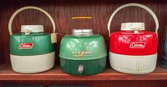 Vintage coolers (Dave* Seven One) Tags: coleman colemancooler olympiccoolers campingequipment campinggear vintage classic camping green ted antiques antiquestore explore seeninexplore