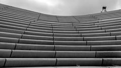 up! up! up! (Özgür Gürgey) Tags: 169 2019 24120mm bw d750 hafen hamburg landungsbrücken nikon lines people repetiton stairs