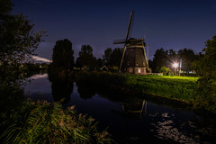 Windmill at Night, Holland (Christy Turner Photography) Tags: nightscape nightskies nightphotography auroraborealis northernlights alberta nights