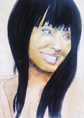 Jada Pinkett Smith (Utopist) Tags: watercolour watercolor portrait women jada pinkett smith