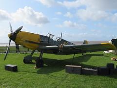 Lytham Wartime Weekend (deltrems) Tags: messerscmitt fight daimler benz aeroplane plane fighter lytham green fylde coast lancashire wartime weekend 40s