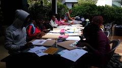 Art Workshop with the stArt Foundatio (Lubuto Library Partners) Tags: lubutolibrarypartners lubutolibrary publiclibrary lubuto library africa zambia children youth ovc art artworkshop smartfoundation painting collage