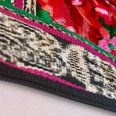 HMM ~ closed edition (karma (Karen)) Tags: macromondays hmm closed embroideredbag brightcolors zipper texture squared cmwd htt