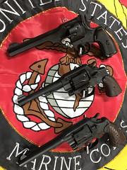 Colt, S&W & Webley. 45 Cal. Reblued.