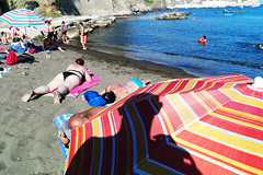 (Just Another Self Portrait) (Robbie McIntosh) Tags: leicam9p leica leicaelmarit28mmf28iii elmarit28mmf28iii summertime summer streetphotography streetincolor strangers candid beach onthebeach procida tan bathers spiaggiadellachiaia