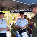 A UH-1Y Venom pilot speaks with members of the Australian Air Force Cadets
