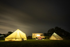 Rhoscolyn Camping (Rob Pitt) Tags: rhoscolyn camping anglesey bell tent hymer camper van north wales night longexposure
