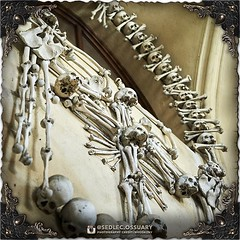Above the stairs leading down into the ossuary, there is a single window (surrounded in bone decorations) that connects to The Cemetery Church of All Saints. Be sure not to miss the view from this window! . Tag us in your photos from here! . . 💀 Sig (Sedlec Ossuary Project) Tags: sedlecossuaryproject sedlec ossuary project sedlecossuary kostnice kutnahora kutna hora prague czechrepublic czech republic czechia churchofbones church bones skeleton skulls humanbones human mementomori memento mori creepy travel macabre death dark historical architecture historicpreservation historic preservation landmark explore unusual mechanicalwhispers mechanical whispers instagram ifttt