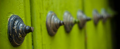 Fade. (Edwin M. Glez) Tags: green fade bokeh street wood door canon 600d 50mm mexico detail closeup