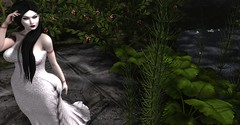 His Forever Bride (Miru in SL) Tags: secondlife sl gothic tpgp gown nature garden deep rose hair makeup group gift lychee omega appliers bruises suicidegirls vampire