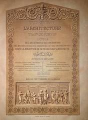 Revue Générale de l'architecture Vol 9 - 1851 (1) (Breboen) Tags: achitecture paper book print old antique pussy revue letters text frontispice frontpage magazine french history