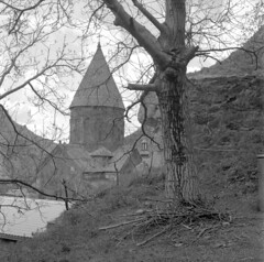 Armenia 2019 (Mityay Menshoy) Tags: film bw ilford delta 400 rolleicord 66 6x6 medium armenia church stone land