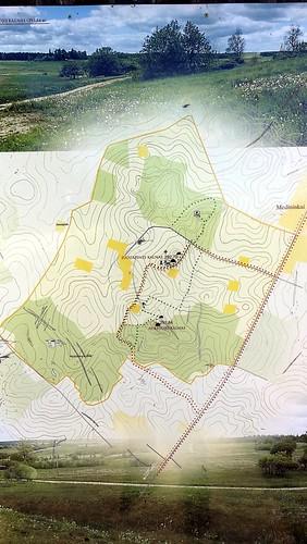 Map of Aukštojas Hill and Juozapinė Hill