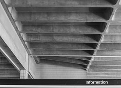 Looking Up (iammattdoran) Tags: preston bus station grade listed heritage architecture arup ove modern modernist modernism brutal brut brutalist brutalism sixties function form clean lines geometric shapes white concrete minimal purity pure aesthetic character england lancashire gem buses transport coach exterior interior photography monchrome building materials utopian utopia
