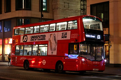 LJ65 FZP, The Strand, London, December 28th 2016 (Southsea_Matt) Tags: lj65fzp vh45158 route13 wright streetdeck volvo b5lh tfl transportforlondon thestrand greaterlondon england unitedkingdom december 2016 winter canon 80d sigma 1850mm bus omnibus passengertravel publictransport vehicle londonsovereign night