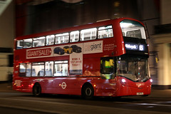 LJ65 FZL, The Strand, London, December 28th 2016 (Southsea_Matt) Tags: lj65fzl vh45154 route13 wright streetdeck volvo b5lh tfl transportforlondon thestrand greaterlondon england unitedkingdom december 2016 winter canon 80d sigma 1850mm bus omnibus passengertravel publictransport vehicle londonsovereign night