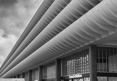 The Future Was Now (iammattdoran) Tags: preston bus station grade listed heritage architecture arup ove modern modernist modernism brutal brut brutalist brutalism sixties function form clean lines geometric shapes white concrete minimal purity pure aesthetic character england lancashire gem buses transport coach exterior interior photography monchrome building materials utopian utopia