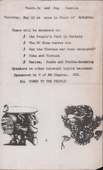 One of last actions by UMD SDS: 1969 (Washington Area Spark) Tags: university maryland students for democratic society sds umd radical organization left wing activist group teach 1969