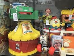 Word of the day... (f l a m i n g o) Tags: word day antique shelf toy 42712