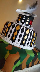 20180929_181420 [ps] - Forth (Anyhoo) Tags: anyhoo photobyanyhoo london england uk cake birthday decoration hat camouflage juxtaposition