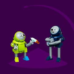 Mech Monday #33: Babysitting Bots? (roΙΙi) Tags: mechmonday mech robot bot lego moc afol character