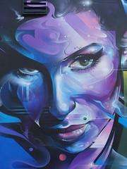London - Amy Winehouse street art (fb81) Tags: greatbritain uk unitedkingdom london amywinehouse street art mural face blue