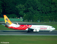 AIR INDIA EXPRESS B737 VT-AXE (Adrian.Kissane) Tags: 737 boeing airline airliner aircraft aeroplane jet plane aviation runway trees departing outdoors 29368 20122008 b737 vtaxe singapore airindia