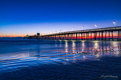 Truly Majestic (dan@propeakphotography.com (out shooting on locati) Tags: america beach blue bluehour california coast horizon imperialbeach northamerica ocean orange pier pointloma red reflections sandiego summer sunset travelandtourism usa unitedstates water waves yellow unitedstatesofamerica