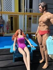Day at the pool house (Jackel24) Tags: phicen chris redfield chrisredfield m34 m33 m35 barbie 16scale chrisprattdoll barbiepool